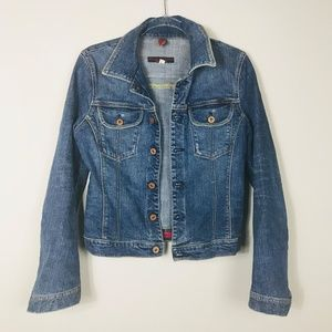 AG The Alamo Denim Trucker Jean Jacket Large